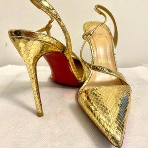 Authentic Christian Louboutin snakeskin heels